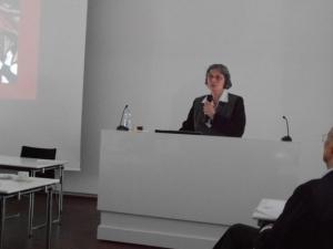 Presentatie op een congres in Duitsland